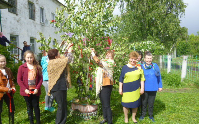 Праздник Ствятой Троицы в селе Мельцаны Старошайговского района