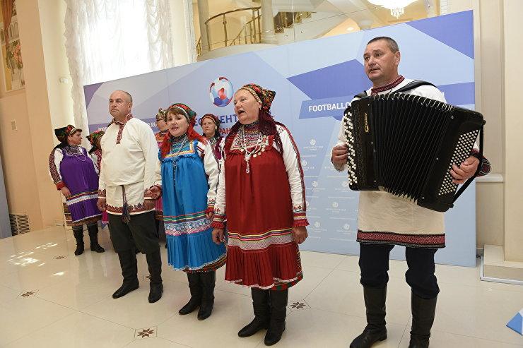 Старинные мокшанские песни прозвучали в городском пресс-центре Саранска