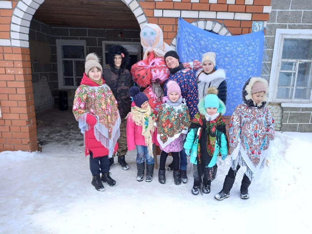 Проводы Масленицы в селе Старая Федоровка.