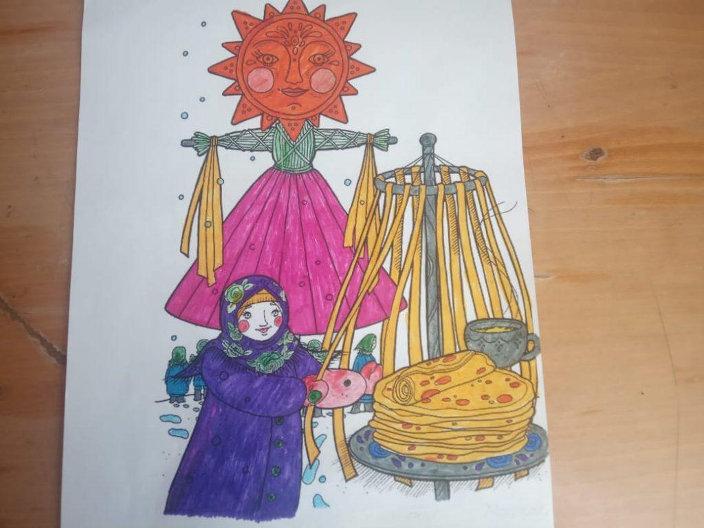 Старофедоровское сельское поселение. Онлайн-акция «Вот такой румяный блин!». Акция детских рисунков.