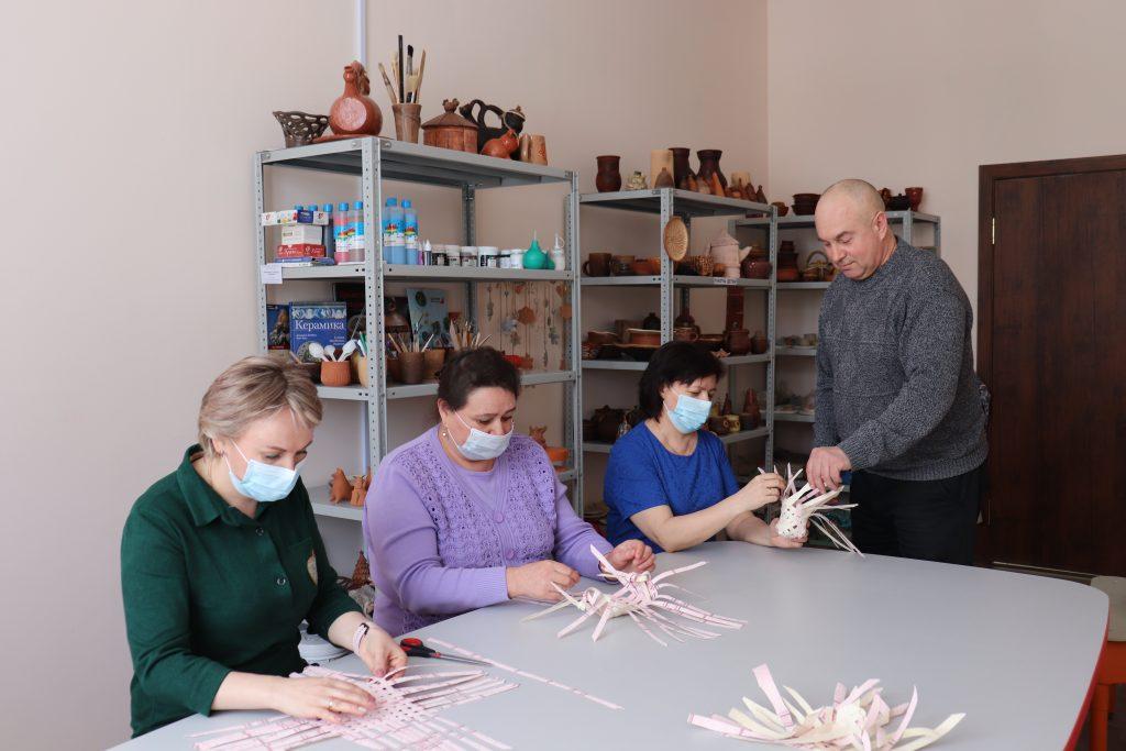 Мастер-класс по плетению из лыка.
