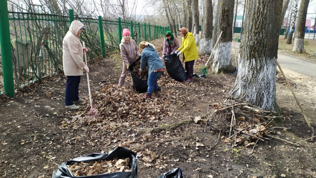 24 апреля работники культуры Старошайговского муниципального района приняли участие во Всероссийском субботнике.