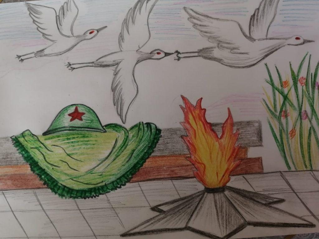 """Лемдяйская сельская библиотека присоединяется к флешмобу """"Вечный огонь в нашем сердце""""."""