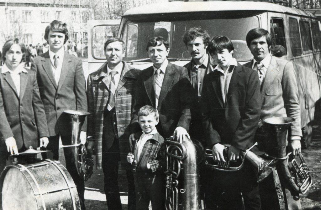 Духовой оркестр Старошайговского Дома культуры. 1984 г.